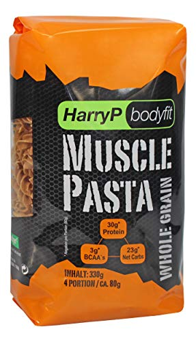 HarryP Bodyfit Muscle Pasta / Eiweiß Nudeln Whole Grain Edition, 2er Pack (2 x 330 g)