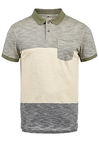 Blend Johansus Herren Poloshirt Polohemd T-Shirt Shirt Mit Polokragen 100% Baumwolle, Größe:XXL, Farbe:Dusty Olive Green (77203) (100 Baumwolle T-shirt)