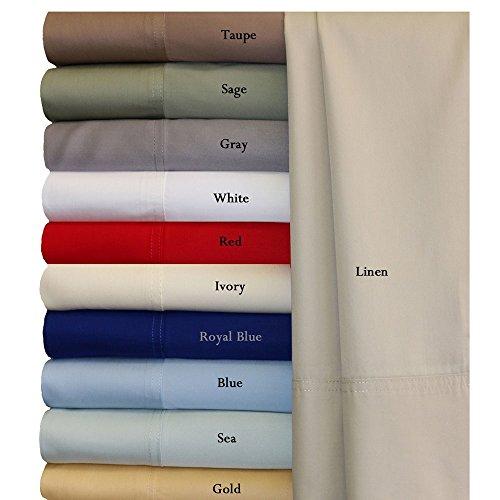 Seidig Weich Bettwäsche 100% Rayon aus Bambus-Bettlaken-Set, Bambus, blau, Split-CalKing
