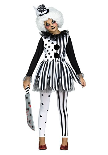 ancy dress costume Large (Scary Clown Girl Kostüme)