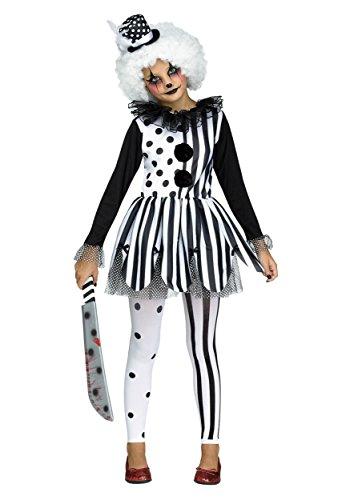Killer Clown Girls Fancy dress costume Large