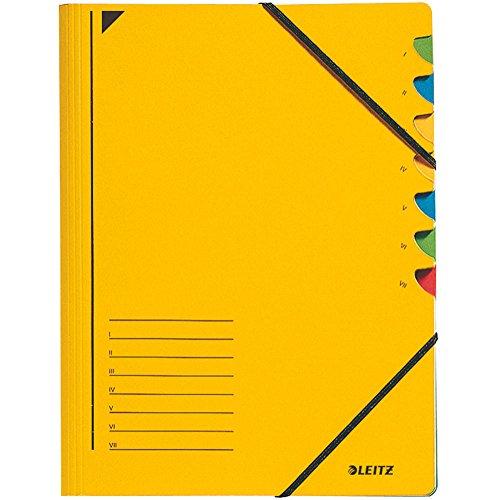 Leitz Ordnungsmappe 3907-15 7 Fächer gelb