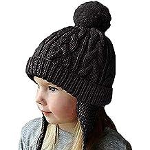 Enfant Bonnet Péruvien avec Pompon Chapeau Tricot avec Cache-Oreilles  Casquette Gavroche d Hiver db6c999a64c