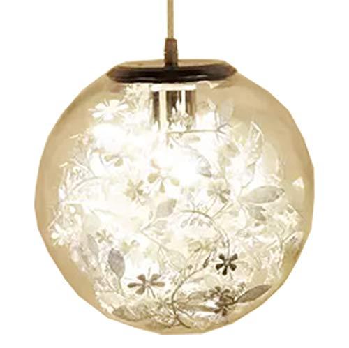 Beleuchtung 1-Lights Industrial Vintage Kücheninsel Leuchte Glaskugel Pendelleuchte