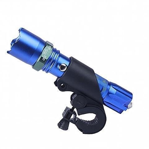Nacht Reiten Fahrrad Lichter Scheinwerfer Reitausrüstung Licht Licht Fokussierende Taschenlampe Berg Rückleuchten Fahrradzubehör,Blau,Taschenlampe + Akku + Ladegerät + Auto Ordner