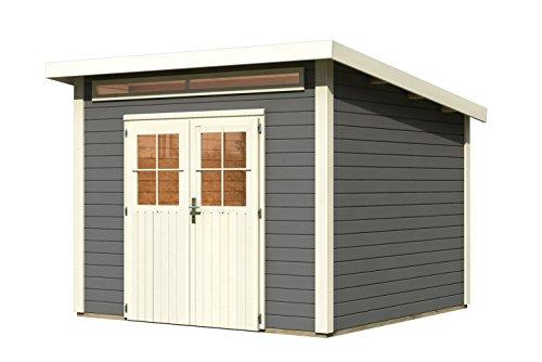 Unbekannt Karibu Woodfeeling Gartenhaus Kulpin 6 terragrau 28 mm