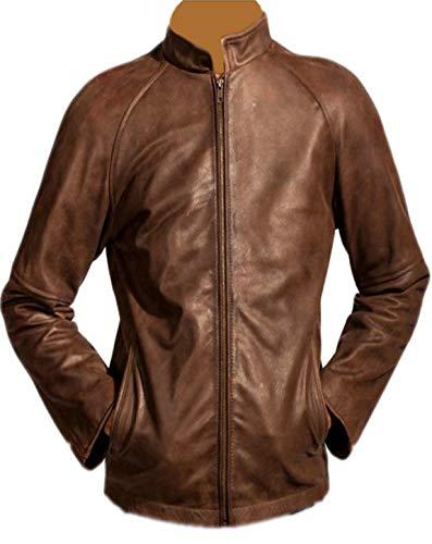 Leder-Spot Herren, Damen Tom Cruise Jack Reacher Echtes Leder Braun ()