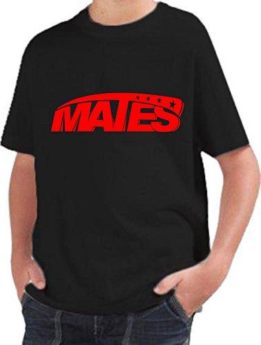 T-shirt BAMBINO ragazzo cotone BASIC super vestibilità top qualità - MATES novità fashion divertenti humor youtuber MADE IN ITALY (9-11 anni, nero)