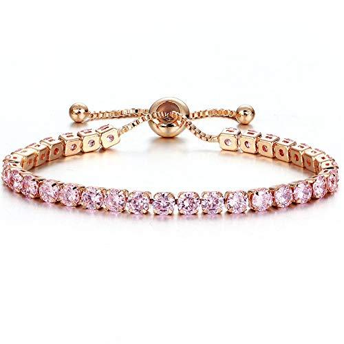 c0186b0085bc Wearego Brazalete De La Pulsera para La Joyería De Las Mujeres Cristal  Brillante Empuje El Diamante