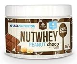 ALLNUTRITION Nutwhey Peanut Butter Erdnussbutter Aufstrich Proteine Frühstück 500g (Peanut Choco - Erdnuss Schoko)