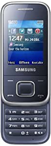 Samsung E2350 Handy (5,08 cm (2,0 Zoll), Radio, MP3 Player, Bluetooth 3,0 ) metallic-blau