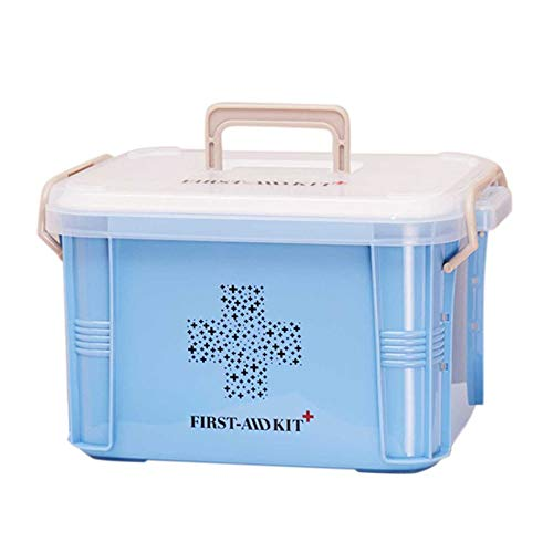 Libertroy practical design home use medicine box cassetta di pronto soccorso scatola di plastica contenitore di emergenza kit di archiviazione portatile - blu s