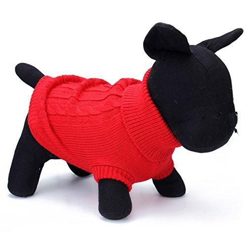 Tutoy Haustier Hund Katze Mantel Winter Warm Pullover Strick Outwear Bekleidung (Kostüme Niedliche Für Meerschweinchen)
