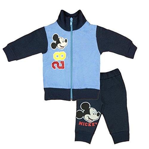 Kleines Kleid Jungen Mickey Mouse Sport-Anzug GEFÜTTERT zweiteilig, Sweat-Jacke mit Steh-Kragen und Langer Hose, GRÖSSE 68, 74, 80, 86, 92, 98, 104, 110, Jogging-Anzug, Freizeit-Anzug blau Size 44 (Jungen Anzüge Kleine)