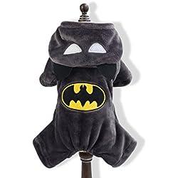 PETCUTE Manteaux d'hiver pour Chiens Vêtements Chauds pour Chiens Manteaux Batman pour Chiens Petits Gros
