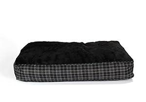 Coussin pour chien XL ultra-épais, 100x70 cm, gris / noir, panier pour chien, matelas pour animal domestique
