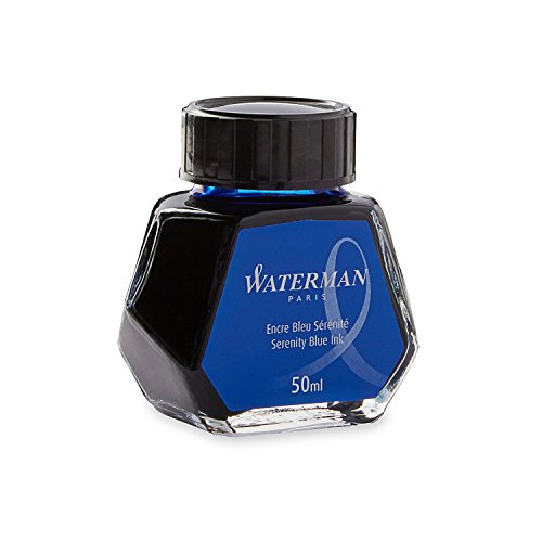 Waterman S0110720 Füllfederhaltertinte im 50 ml Tintenfass serenity blue