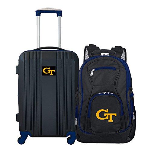 DENCO NCAA Georgia Tech Yellow Jackets 2-Piece Luggage Set -