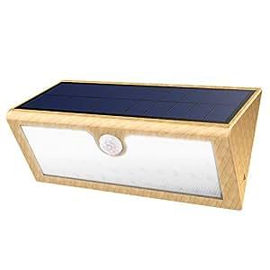 Lampada Wireless ad Energia Solare 1000LM,GrandBeing Luci Solari di 46 LED da Esterno Impermeabile con Sensore di Movimento,Funzione di carica del cavo USB, 4 Modalità Funzione, per Parete, Muro, Giardino, Terrazzino, Cortile, Casa, Corraio ecc