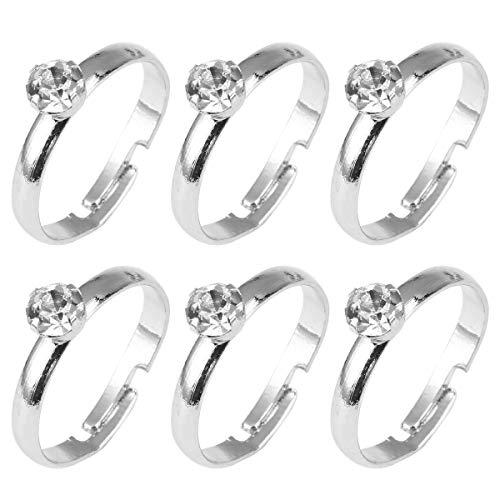 36 stücke Silber Diamant Verlobungsringe für Hochzeit Tischdekoration Party Akzente Tisch Scatter Cake Toppers (Diamant-verlobungsringe, Ein Akzent)