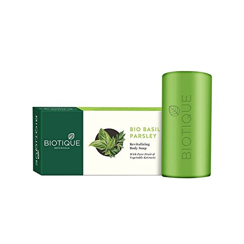 Biotique Basil and Parsley Revitilizing Body Soap, 150g