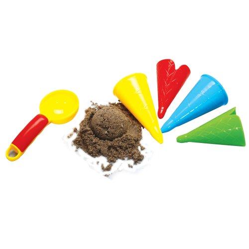 Imagen principal de Gowi 558-41 - Juego de playa con moldes para la arena, forma de helado (5 piezas en redecilla) [importado de Alemania]