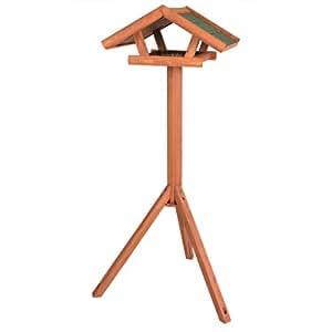 Trixie 5570 natura Vogelhaus aus Holz mit Ständer, 46 x 22 x 44 cm/1.15 m