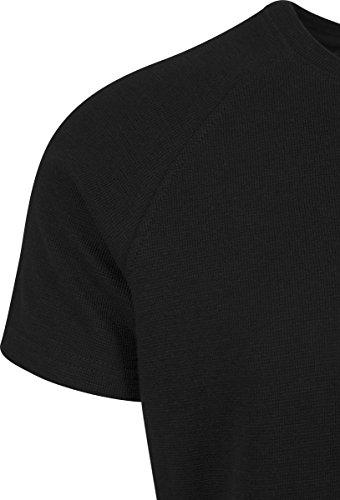 Urban Classics Herren T-Shirt Thermal Slub Raglan Tee Schwarz (Black 7)