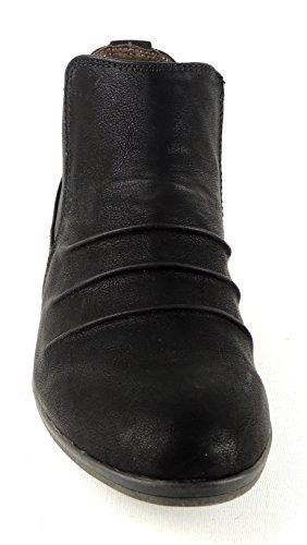 JENNY by aRA de cHELSEA bottines femme-sTYLE largeur g fermeture éclair noir Noir - Noir