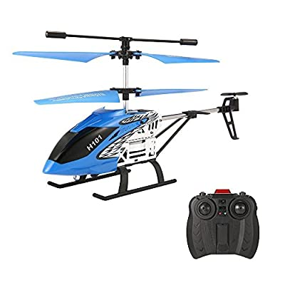 EACHINE Mini Helicopter, Tracker H101 3.5Channels RC Helicopter With Gyro Remote Controlled Rechargeable Airplane Drone for Beginner RTF by Aeiolw
