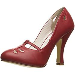 Pin Up Couture SMITTEN-20 red faux leather