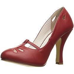 Pin Up Couture SMITTEN-20 Damen Retro Pumps, PU Rot, EU 37 (US 7)