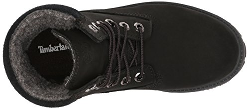 Timberland 6 In Classic Boot FTC_6 In Classic Boot, Bottines avec doublure intérieure mixte enfant Noir/nubuck