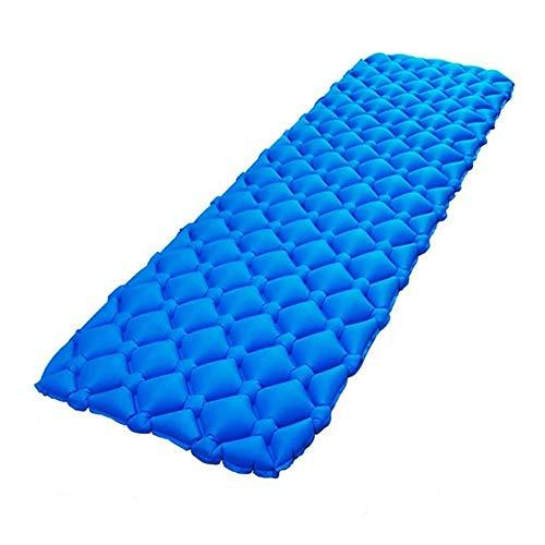 Depruies 40D Nylon Stoff wasserdicht bequem TPU aufblasbar Kissen Zelt Schlafsack Hängematte aufblasbares Bett geeignet für Zuhause Boden Garten Rasen und Strand blau (Hängematte Betten Zuhause)
