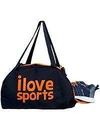 Dee Mannequin 750850 Multi-Purpose Sports Gym Bag (Black/Orange)