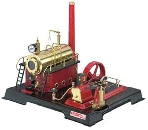 Wilesco 21–Machine à vapeur D21500ml bouilloire Contenance, avec valve de sécurité, manomètre et Cathédrale de pipe
