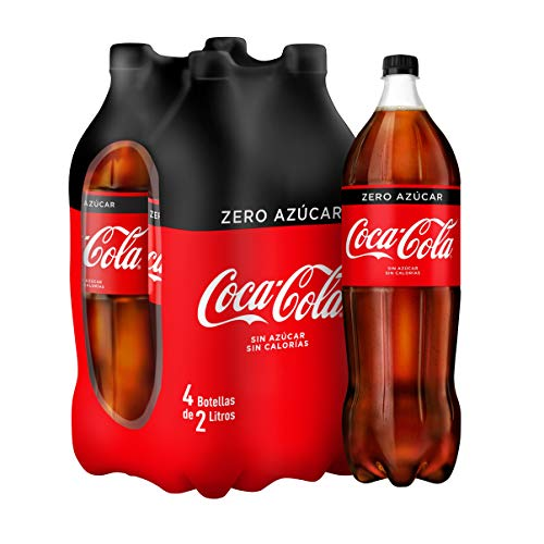 Coca Cola Zero Refresco - Paquete de 4 x 2000 ml - Total: 8000 ml