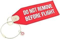 Original EU Marke 5er Big Pack Schlüsselanhänger ROT REMOVE BEFORE FLIGHT ®