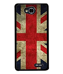 PrintVisa Designer Back Case Cover for LG L 70 (Patriotic Texture Symbol Blue Red White Material)