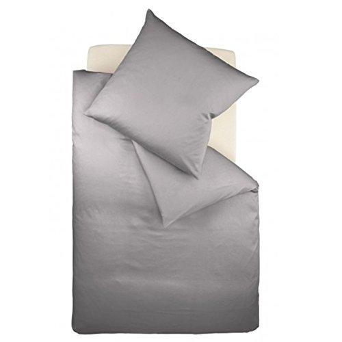 Fleuresse Interlock-Jersey-Bettwäsche Colours grau 9021 Größe: 135 x 200 cm