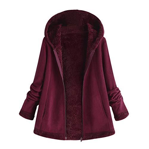 Vicgrey ❤ cappotti donna eleganti cardigan invernale con cappuccio taglie forti caldo manica lunga imbottito in cotone capispalla cardigan donna invernale elegante