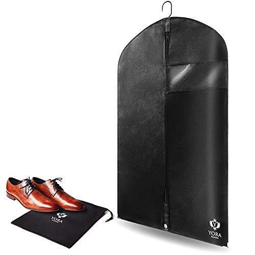 YORA Kleidersack für Anzug, Jacke und Kleider - Stabile Schutzhülle für optimalen Schutz gegen Motten, Staub und Schimmel -