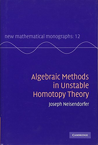 Algebraic Methods in Unstable Homotopy Theory