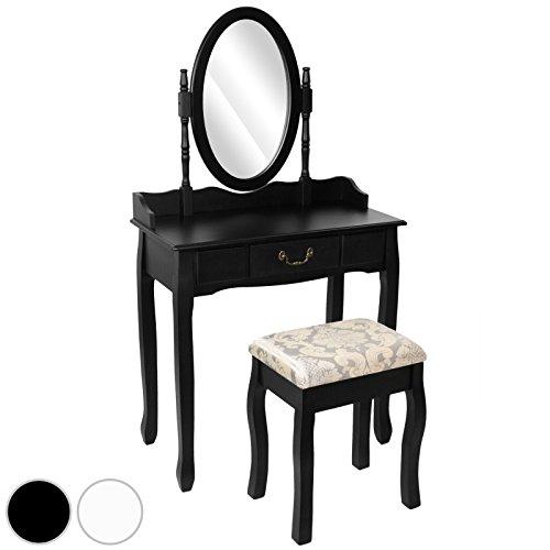 Miadomodo-Mesa-para-maquillaje-Tocador-moderno-para-dormitorio-con-cajn-taburete-y-espejo-desmontable-disponible-en-color-blanco-o-negro