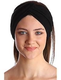 Klassisch Kreuz Baumwolle Stirnband für Damen