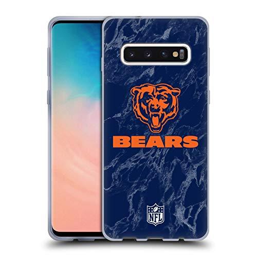 Head Case Designs Offizielle NFL Marmor Farbig 2018/19 Chicago Bears Soft Gel Huelle kompatibel mit Samsung Galaxy S10 - Chicago-griff