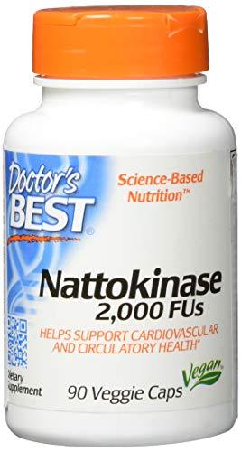 Doctor's Best | Nattokinase | 2000 FUs | 90 vegane Kapseln | glutenfrei