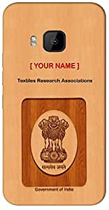 """Your ID with Govt. Logo with """" Your Name """" Printed on your HTC-816-G-plus Mobile back cover with your Dept: Textiles Research Associations"""