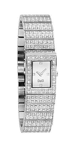 D&G DW0328 'Scotland' Ladies Silver Dial Bracelet Watch With Stones