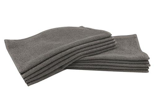 Zollner 10er Set Gästehandtücher Seiftücher aus Baumwolle, Taupe (weitere verfügbar), ca. 30x30 cm